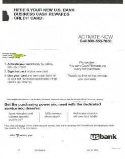 $15,000 U.S. BANK APPROVAL