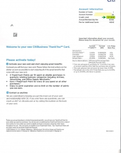 $7,000 CITI BUSINESS APPROVAL