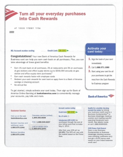 $8,000 BANK OF AMERICA APPROVAL