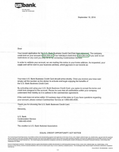 $24,900 U.S. BANK APPROVAL