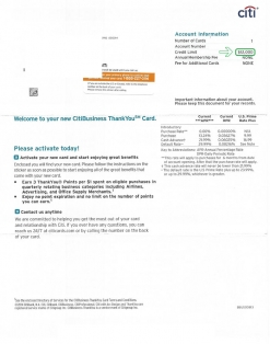 $12,000 CITI BUSINESS APPROVAL